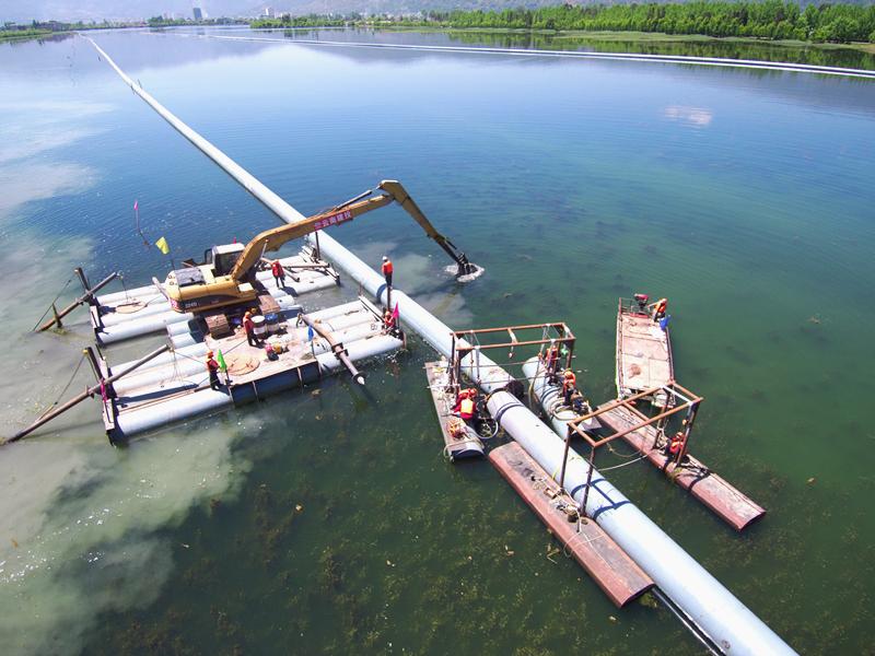 三库连通工程一期的茈碧湖段